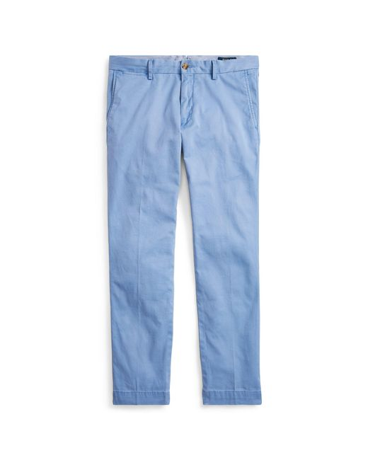 Polo Ralph Lauren - Blue Stretch Slim Fit Chino for Men - Lyst
