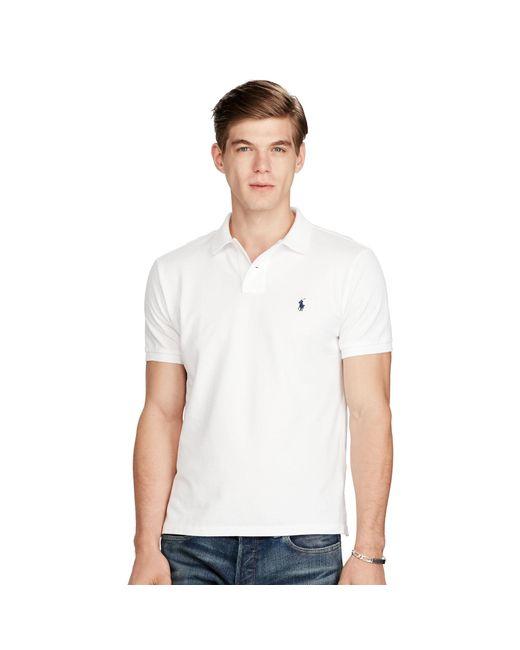 Polo Ralph Lauren | White Custom-fit Mesh Polo Shirt for Men | Lyst