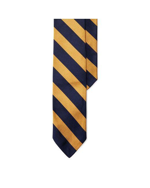 Polo Ralph Lauren   Blue Striped Silk Repp Narrow Tie for Men   Lyst