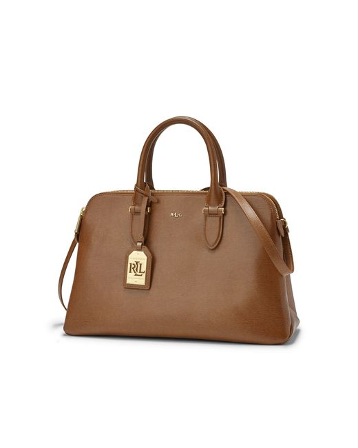 Ralph Lauren | Brown Dome Leather Bag | Lyst