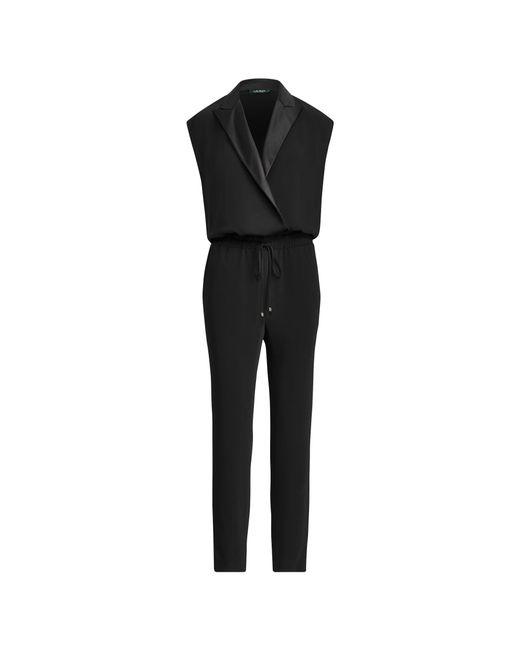 Ralph Lauren - Black Crepe Jumpsuit - Lyst