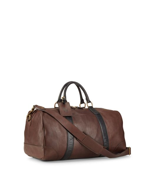 Polo Ralph Lauren | Brown Two Tone Leather Duffle Bag for Men | Lyst