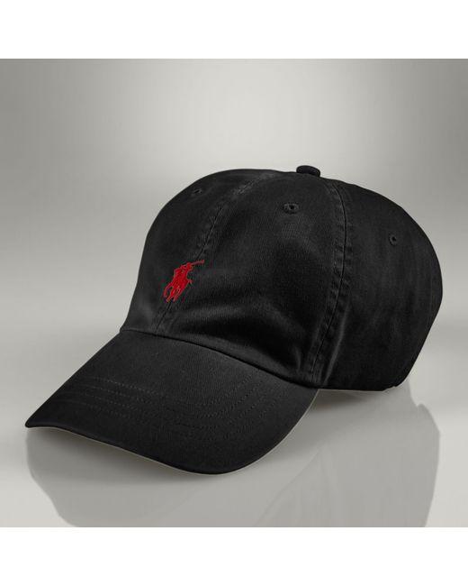 Polo Ralph Lauren - Black Cotton Chino Baseball Cap for Men - Lyst