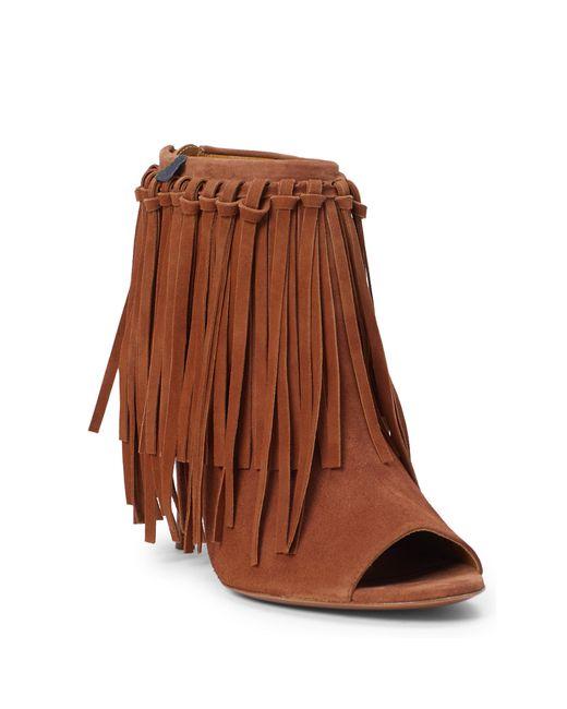 Polo Ralph Lauren | Brown Randi Fringed Suede Sandal | Lyst