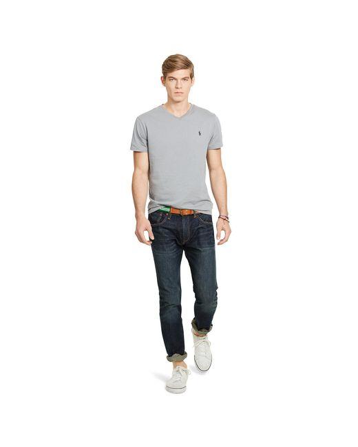 Polo Ralph Lauren | Gray Cotton Jersey V-neck T-shirt for Men | Lyst