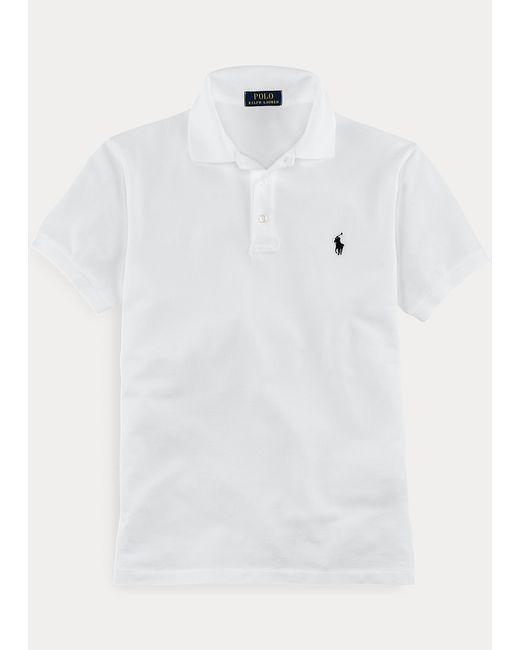 Polo Ralph Lauren Slim-Fit Stretch-Piqué-Polo in White für Herren