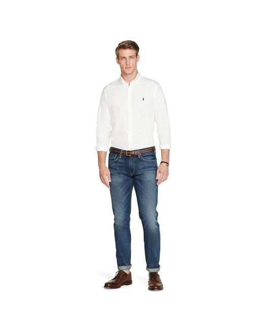 Polo Ralph Lauren | White Solid Cotton Poplin Shirt for Men | Lyst