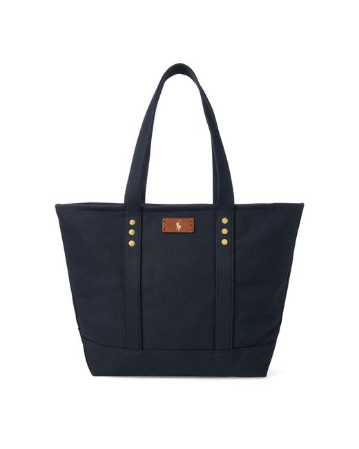 Polo Ralph Lauren - Blue Canvas Tote Bag - Lyst