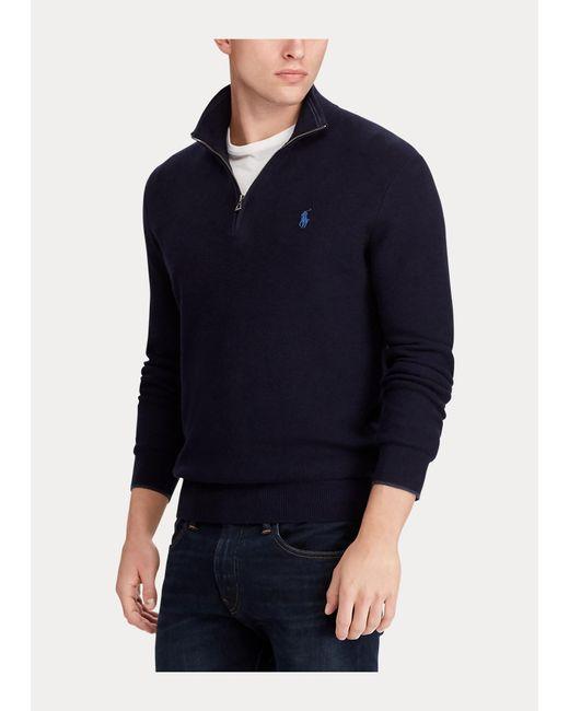 Polo Ralph Lauren Baumwollpullover mit Reißverschluss in Blue für Herren