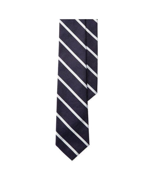 Polo Ralph Lauren - Blue Striped Silk Repp Tie for Men - Lyst