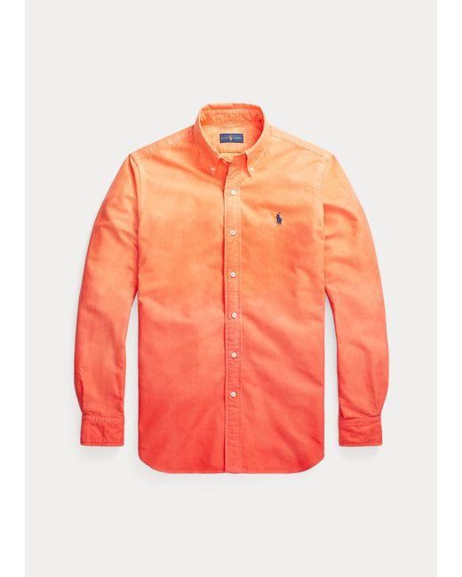 Camisa Oxford Teñida Classic Fit Polo Ralph Lauren de hombre de color Orange