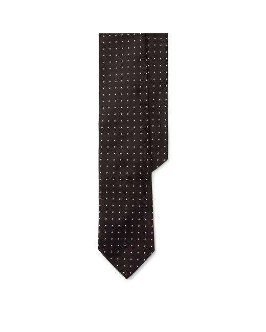 Polo Ralph Lauren | Black Dotted Silk Repp Narrow Tie for Men | Lyst