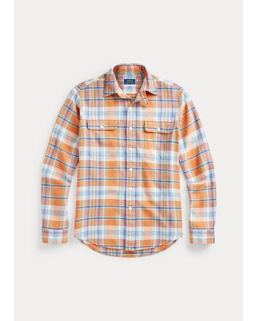 Camisa De Trabajo De Sarga Custom Fit Polo Ralph Lauren de hombre de color Multicolor