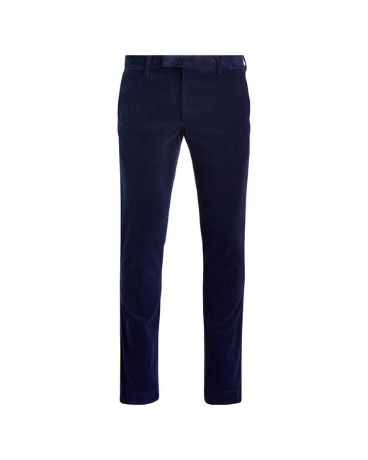 Polo Ralph Lauren Blue Stretch Slim Fit Corduroy Pant for men