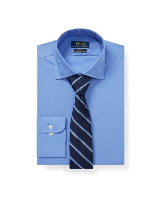 Polo Ralph Lauren - Blue Custom Fit Poplin Shirt for Men - Lyst