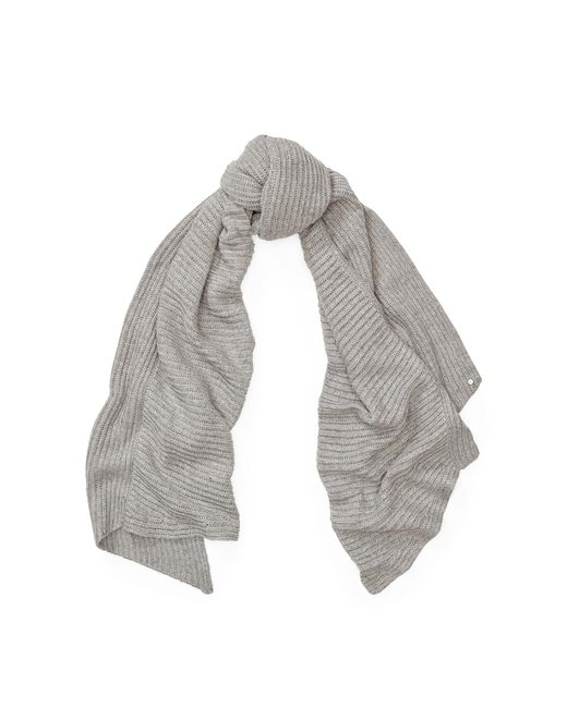 Ralph Lauren | Gray Metallic Linear Ribbed Scarf | Lyst