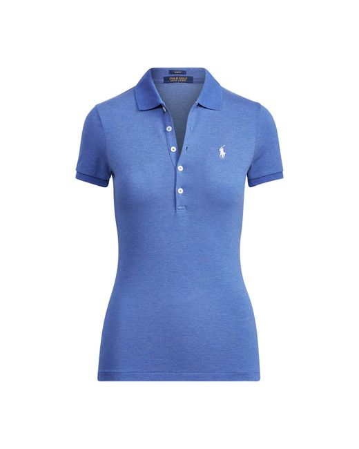 Ralph Lauren Golf   Blue Slim Fit Stretch Mesh Polo   Lyst