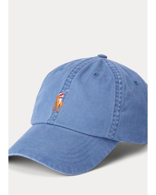 Polo Ralph Lauren Baseballkappe aus Stretch-Baumwolltwill in Blue für Herren