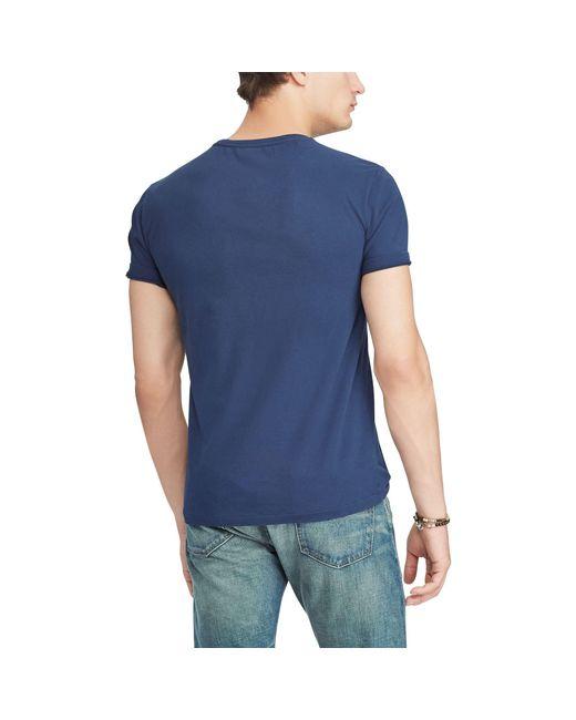 55753c0e27 Men's Blue Pink Pony Custom Slim T-shirt
