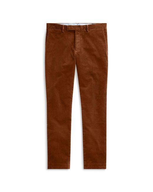 Polo Ralph Lauren - Brown Stretch Slim Fit Corduroy Pant for Men - Lyst