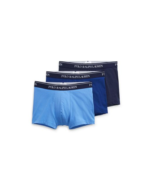 Polo Ralph Lauren - Blue Stretch-cotton-trunk 3-pack for Men - Lyst