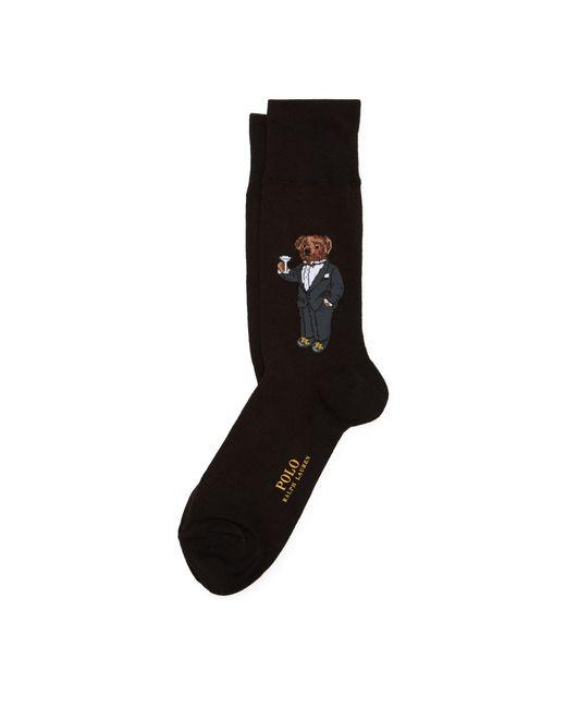 Chaussettes de sport ourson martini Polo Ralph Lauren pour homme en coloris Black