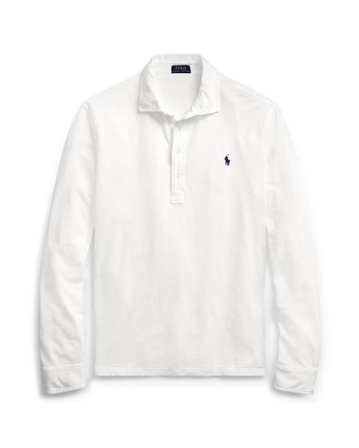 Polo Ralph Lauren | White Custom Fit Featherweight Polo for Men | Lyst