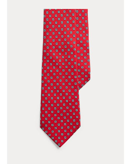 Cravatta in foulard di seta con cerchi di Polo Ralph Lauren in Red da Uomo