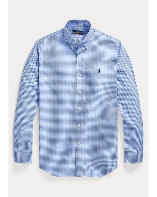 Camisa A Cuadros Custom Fit Polo Ralph Lauren de hombre de color Blue
