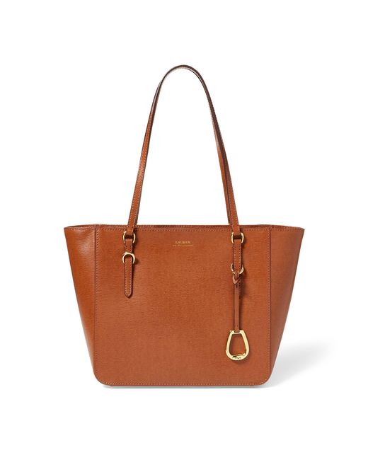 Ralph Lauren Brown Leather Oxford Tote