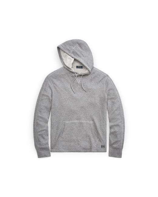 Polo Ralph Lauren | Gray Waffle-knit Cotton Hoodie for Men | Lyst