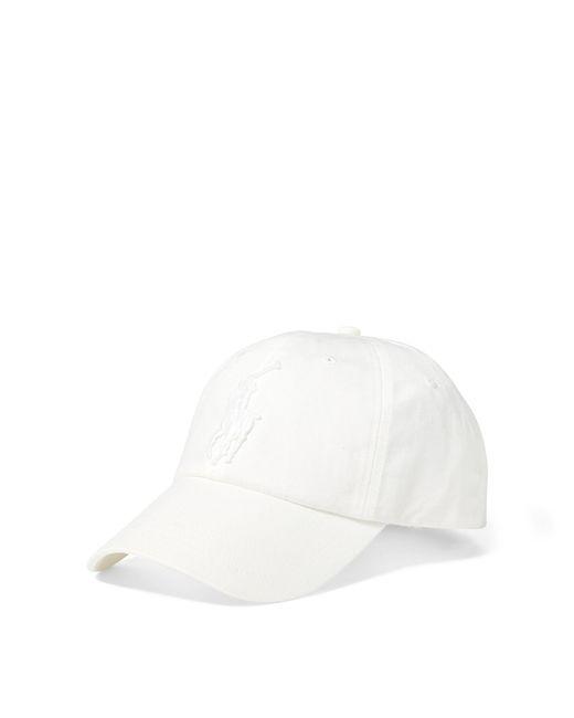 e4bb9a19 Polo Ralph Lauren - White Mens Cotton Chino Baseball Cap for Men - Lyst ...