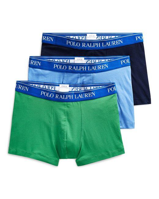 Lot de 3 slips boxers coton stretch Polo Ralph Lauren pour homme en coloris Blue