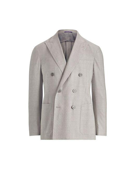Ralph Lauren Purple Label - Gray Houndstooth Twill Sport Coat for Men - Lyst