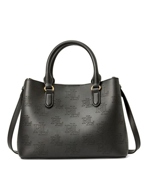 Ralph Lauren Black Leather Mini Marcy Satchel