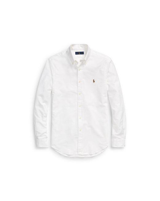 Polo Ralph Lauren - White Slim Fit Stretch Oxford Shirt for Men - Lyst