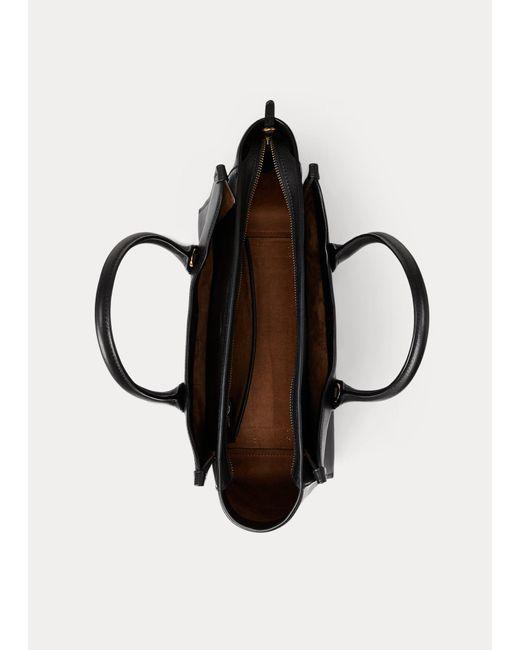 Ralph Lauren Brown Umhängetasche Sloane aus Leder