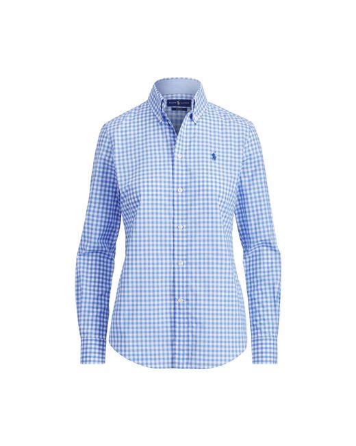 Polo Ralph Lauren - Blue Gingham Cotton Poplin Shirt - Lyst