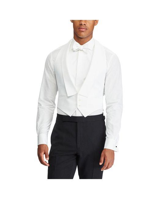 Ralph Lauren Purple Label Cotton Piqué Vest In White For