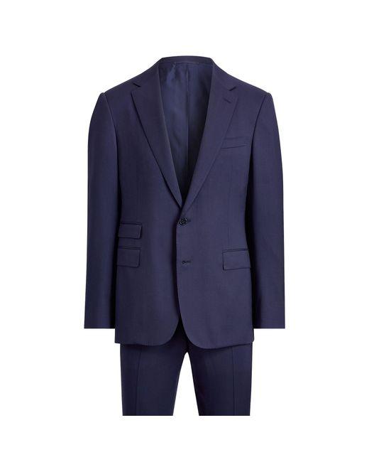 Ralph Lauren Purple Label Blue Gregory Handmade Wool Suit for men