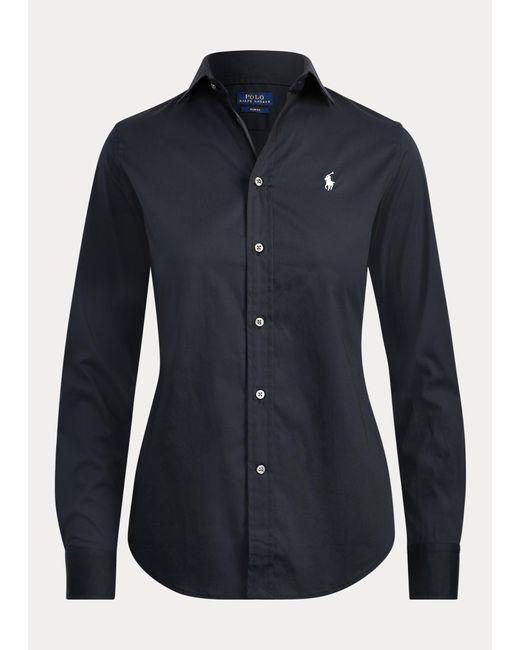 Polo Ralph Lauren Black Slim-Fit Popelinehemd