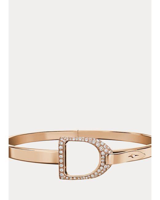 Bracelet jonc étrier en or rose pavé Ralph Lauren en coloris Pink