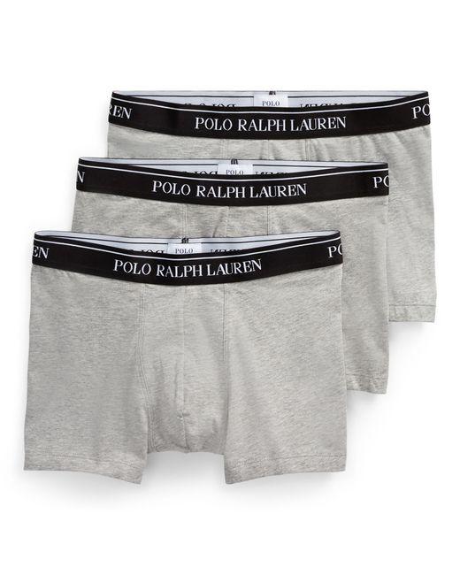 Lot de 3 boxers coton stretch Polo Ralph Lauren pour homme en coloris Blue