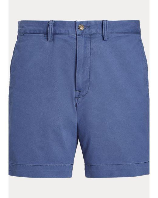 Polo Ralph Lauren Stretch-Straight-Fit Chinoshorts in Blue für Herren