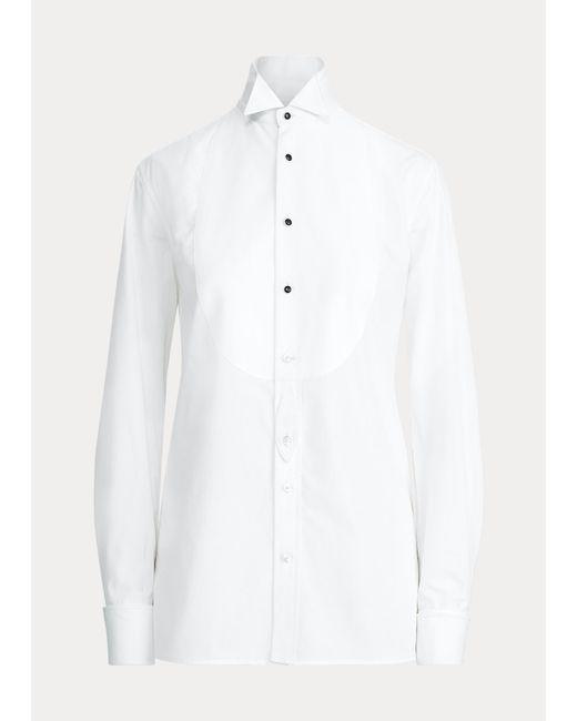Ralph Lauren White Baumwollhemd Marlie mit Kragen