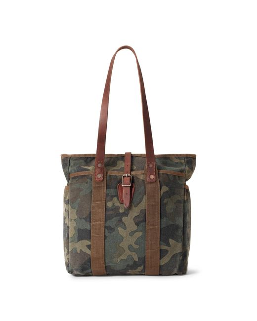 Polo Ralph Lauren Green Camouflage Cotton Canvas Tote for men