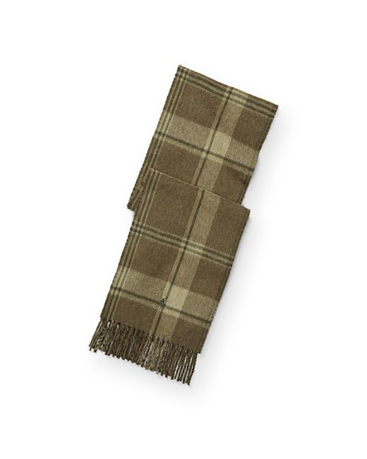 Polo Ralph Lauren | Green Plaid Wool-blend Scarf | Lyst