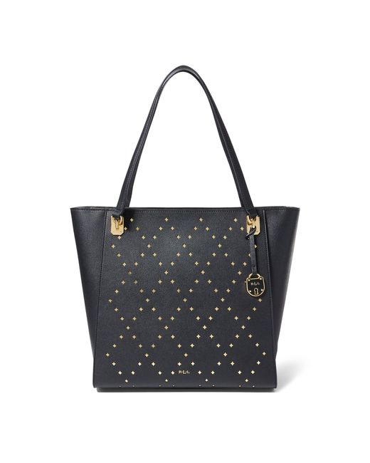 Ralph Lauren - Black Perforated Elizabeth Tote - Lyst