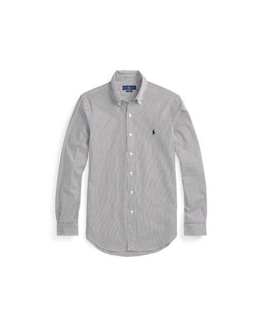 Polo Ralph Lauren - Black Slim-fit Striped Poplin Shirt for Men - Lyst
