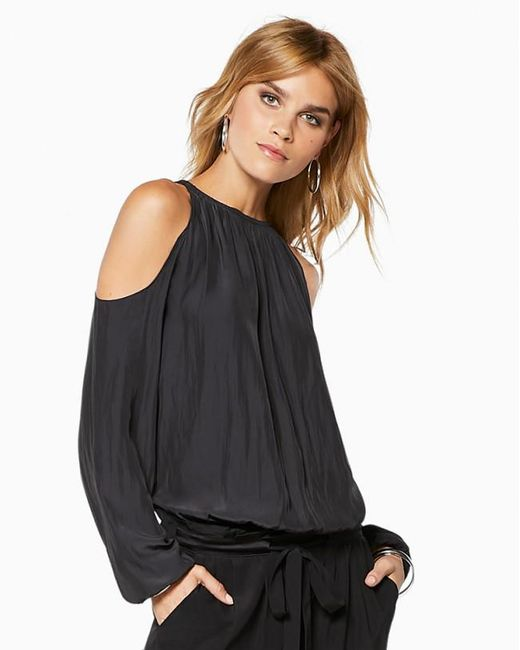 Ramy Brook - Black Lauren Cold Shoulder Blouse - Lyst